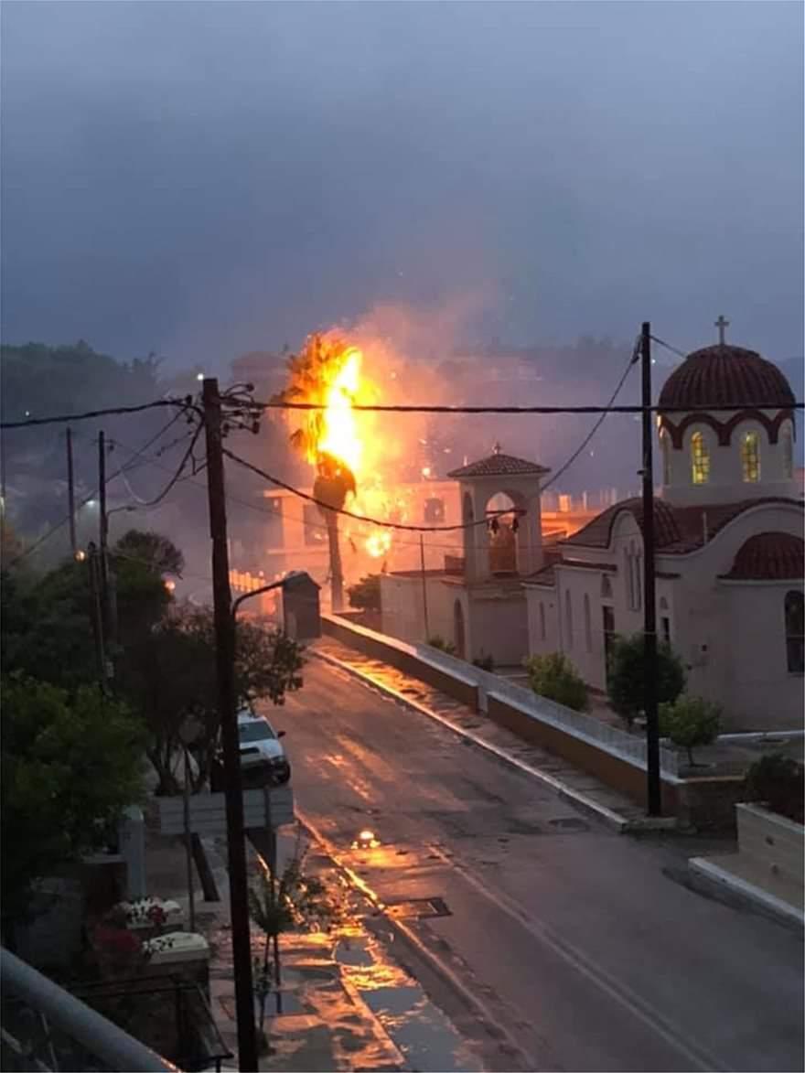 Προβλήματα από την κακοκαιρία στην Δυτική Ελλάδα(Φωτ.)