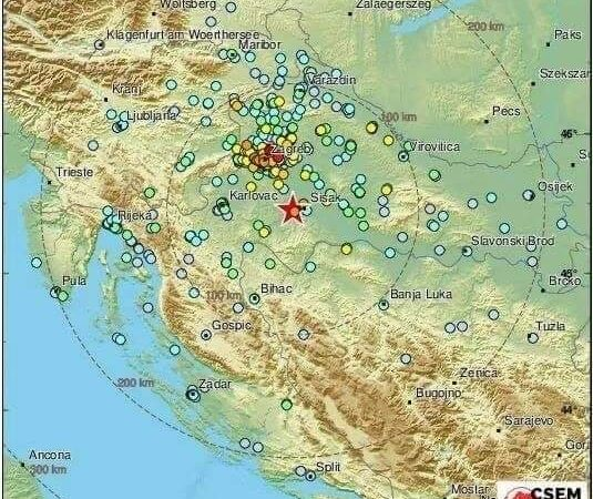 Σεισμός με μεγάλες καταστροφές στην Κροατία 29-12-2020