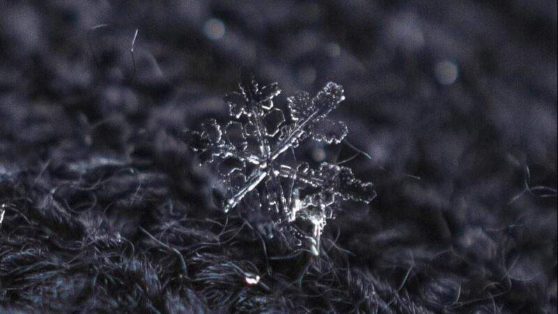 Απίστευτη εικόνα χιονονιφάδας