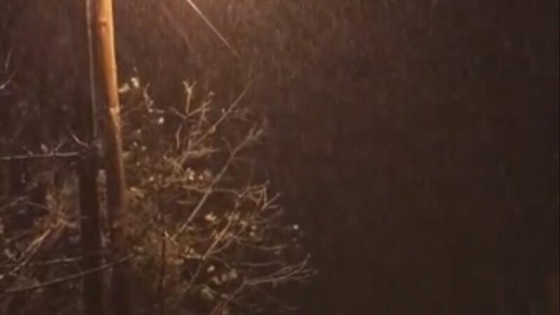 Χιονόπτωση Καστανιά Ημαθίας.