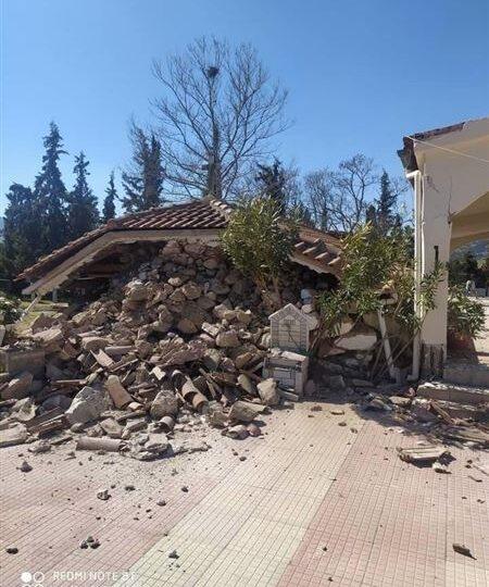 Σεισμός 6 Ρίχτερ στη Λάρισα: Κατέρρευσσε τμήμα εκκλησίας στο Μεσοχώρι